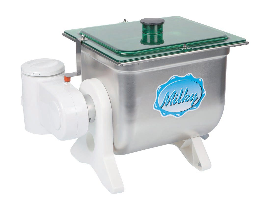 Milk Processing Equipment Bob White Systems Pasteurization Htst Flow Diagram On Vacuum Breaker 1 Gallon Electric Butter Churn Milky Fj10 Stainless Steel