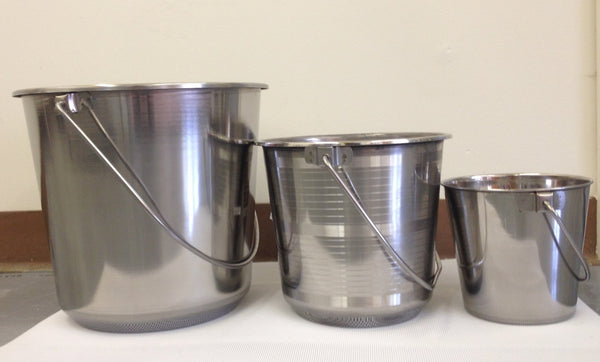 Lightweight Stainless Milk Pail - Bob-White Systems