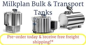 Free freight shipping on Pre-order Milkplan Tanks