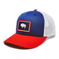 WYO BUFFALO FLAG TRUCKER HAT