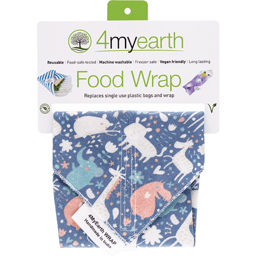 4MYEARTH Food Wrap - Animals - 30x30cm