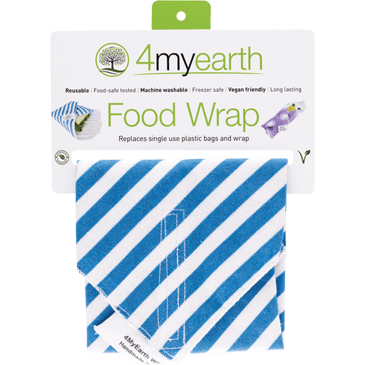 4MYEARTH Food Wrap - Denim Stripe - 30x30cm