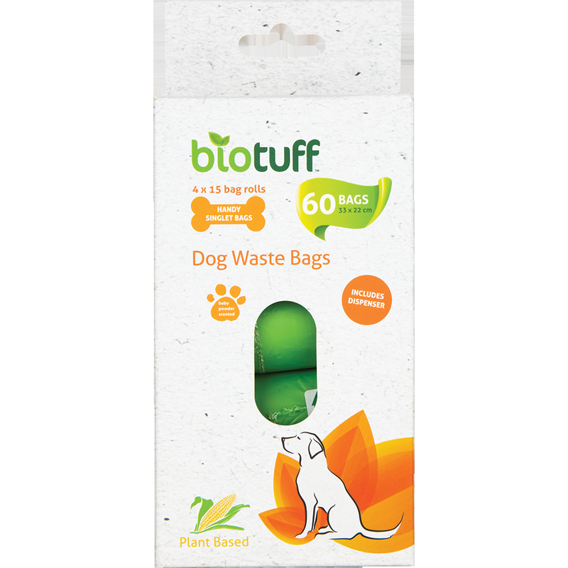 biotuff dog waste bags with dispenser