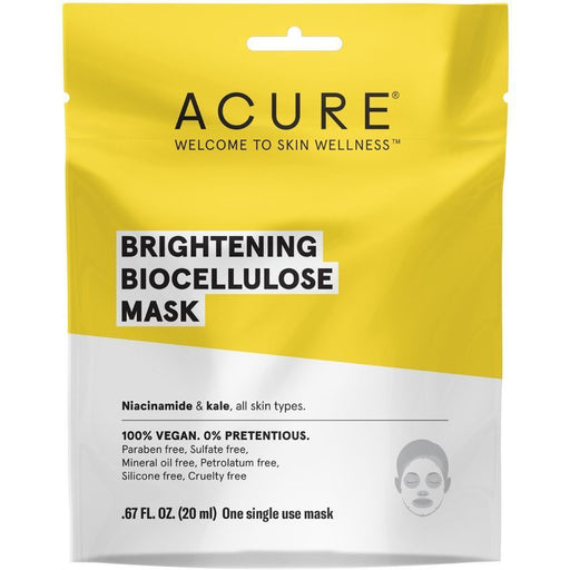 Acure Brightening Biocellulose Mask - 20ml - Hummingbird Sings