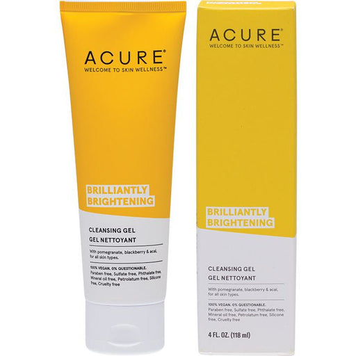 Acure Brightening Cleansing Gel - 118ml - Hummingbird Sings
