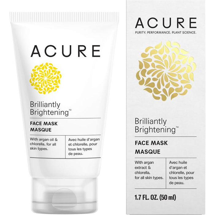 Acure Brilliantly Brightening Face Mask - 50ml - Hummingbird Sings