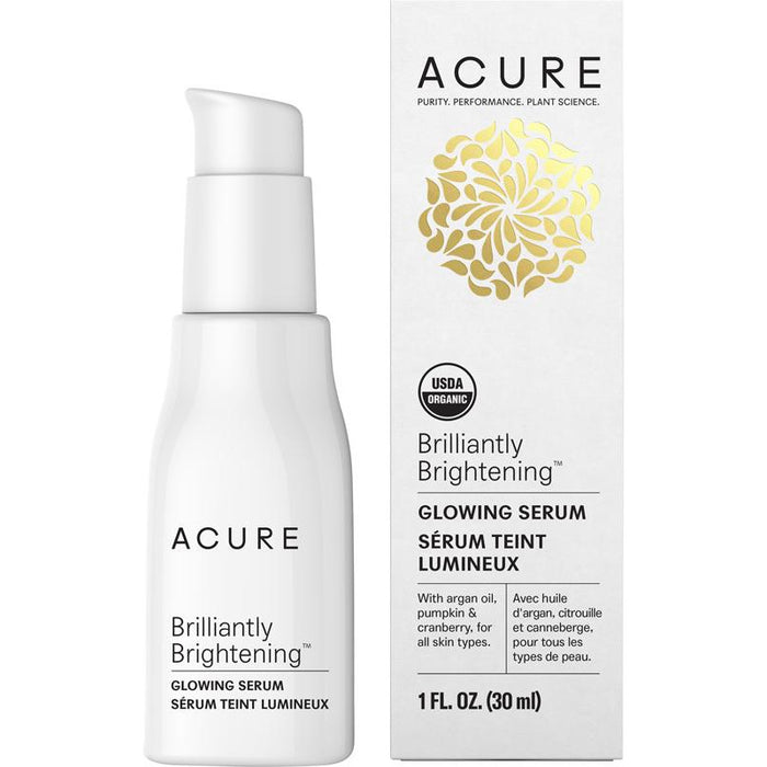 Acure Brilliantly Brightening Glowing Serum - 30ml - Hummingbird Sings