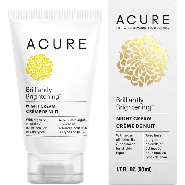 Acure Brilliantly Brightening Night Cream - 50ml - Hummingbird Sings
