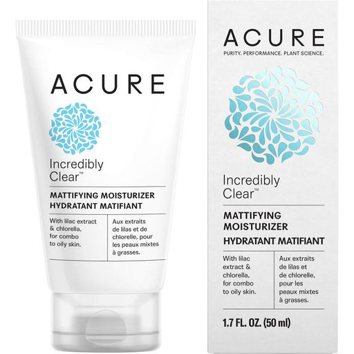 Acure Incredibly Clear Mattifying Moisturizer - 50ml - Hummingbird Sings