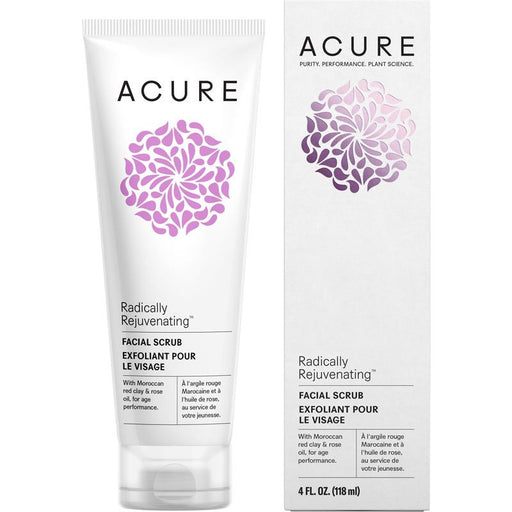 Acure Radically Rejuvenating Facial Scrub - 118ml - Hummingbird Sings