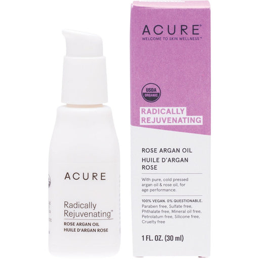 Acure Radically Rejuvenating Rose Argan Oil - 30ml - Hummingbird Sings