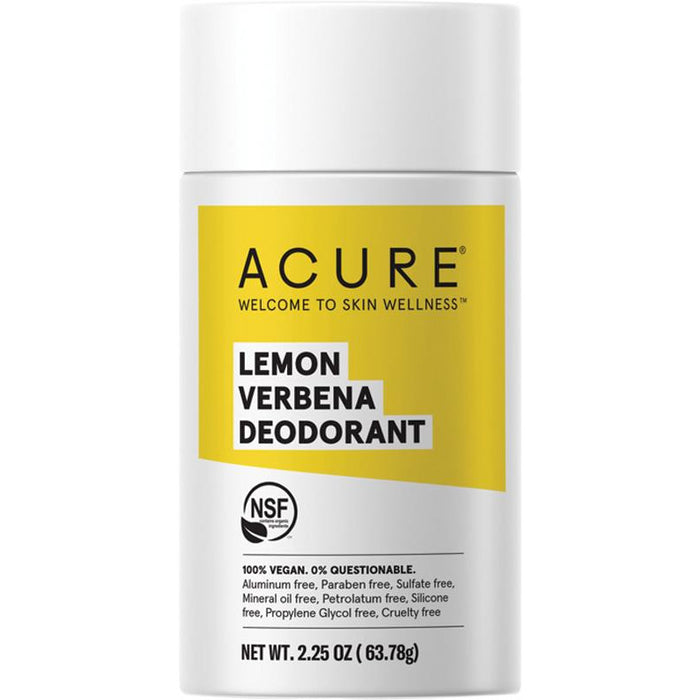 Acure Stick Deodorant - Lemon Verbena - Hummingbird Sings