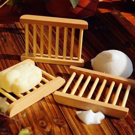 Bamboo Soap Dish - Plate Rack Style - Hummingbird Sings