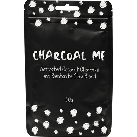 CHARCOAL ME Activated Coconut Charcoal & Bentonite Clay - 60g - Hummingbird Sings