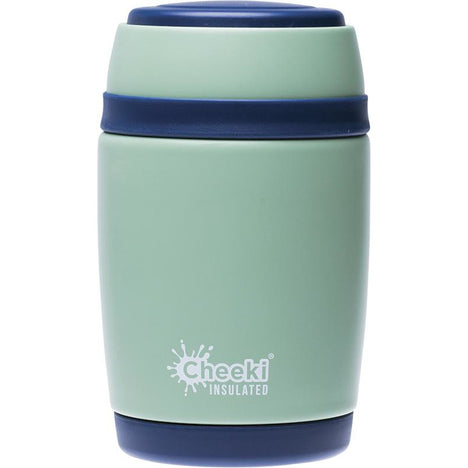CHEEKI Insulated Food Jar Pistachio 480ml - Hummingbird Sings