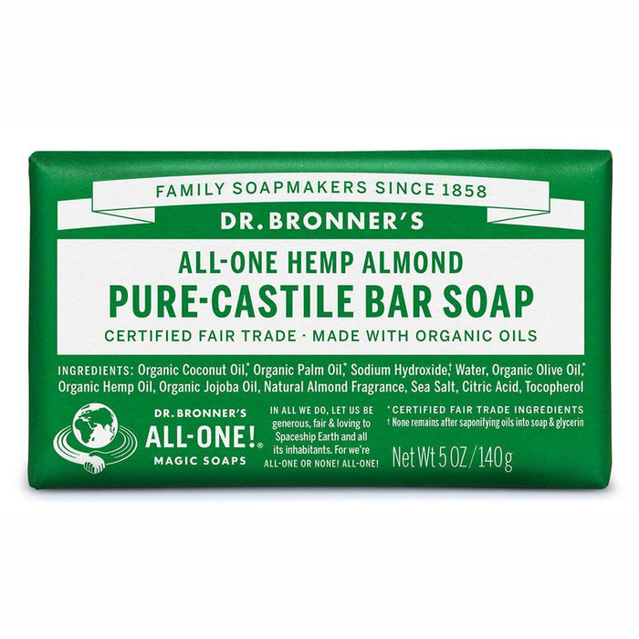 Dr Bronner's Pure Castile Soap Bar - Almond - Hummingbird Sings