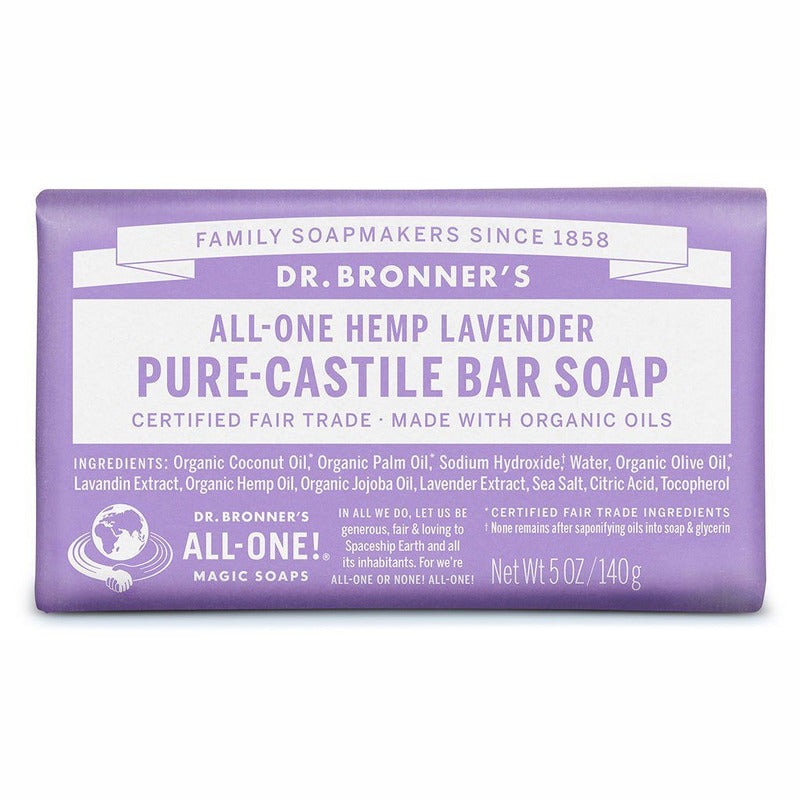 Dr Bronner's Pure Castile Soap Bar - Lavender - Hummingbird Sings