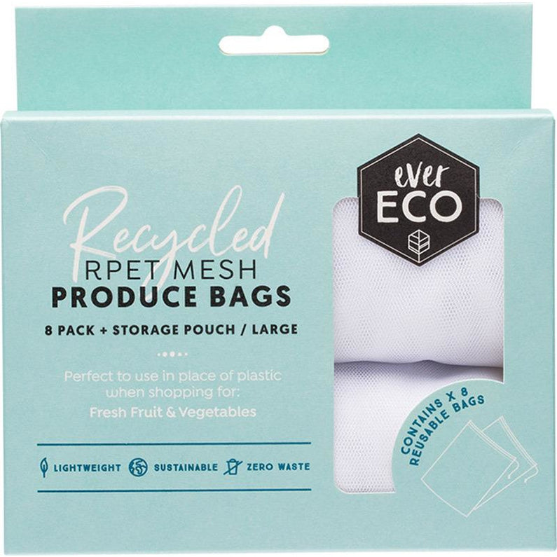 EVER ECO Reusable Fruit & Veg Bags 8 Pack + Storage Pouch 8 - Hummingbird Sings