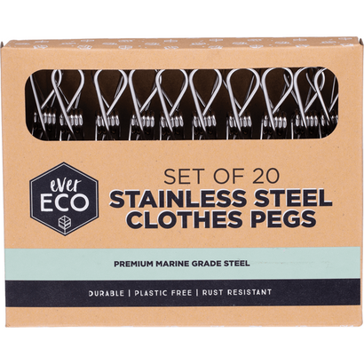 ever eco stainless steel clothes pegs