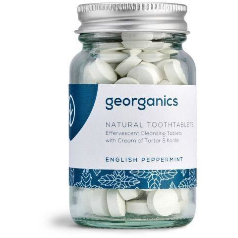 Georganics English Peppermint Toothtablets ~ 120 tablets - Hummingbird Sings
