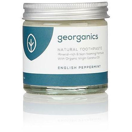Georganics Natural Mineral-Rich Toothpaste - English Peppermint 60ml - Hummingbird Sings