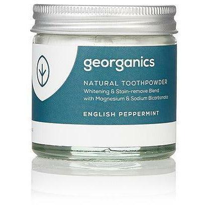 Georganics Natural Toothpowder - Peppermint 60ml - Hummingbird Sings