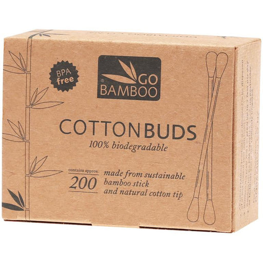Go Bamboo Cotton Buds 100% Biodegradable 200 Pack - Hummingbird Sings