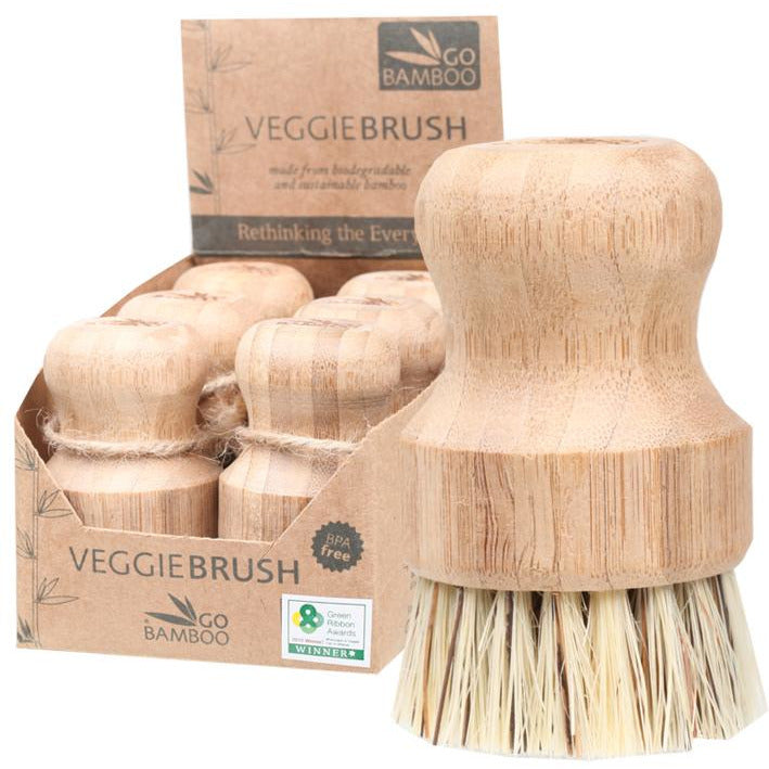 Go Bamboo Veggie Brush 100% Biodegradable - Hummingbird Sings