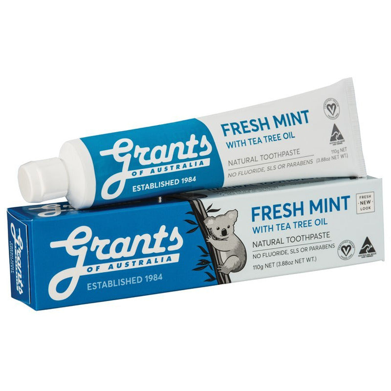 Grants Toothpaste - Fresh Mint (Flouride Free)