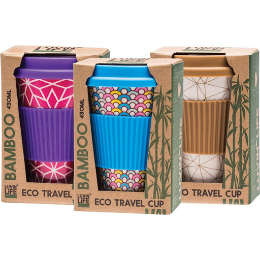 Luvin Life Bamboo Travel Cup - ART - Hummingbird Sings