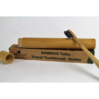 MiEco ME Tube Bamboo Toothbrush Travel Case - Hummingbird Sings