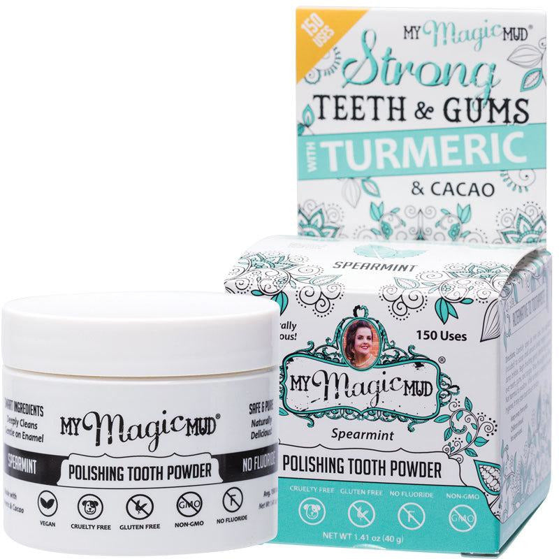 My Magic Mud Polishing Tooth Powder - Spearmint - Hummingbird Sings