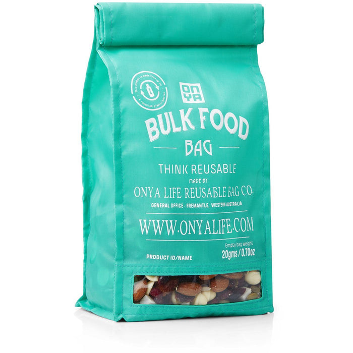 Onya Bulk Food Bag - Medium - Aqua - Hummingbird Sings