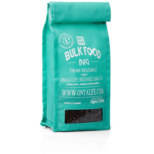 Onya Bulk Food bag - Small - Aqua - Hummingbird Sings