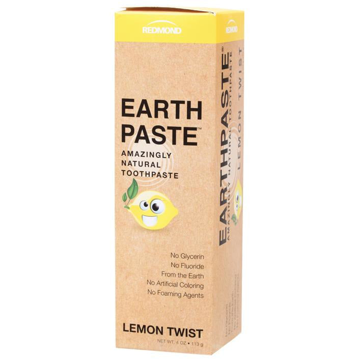 Redmond Earthpaste Toothpaste Lemon Twist - Hummingbird Sings