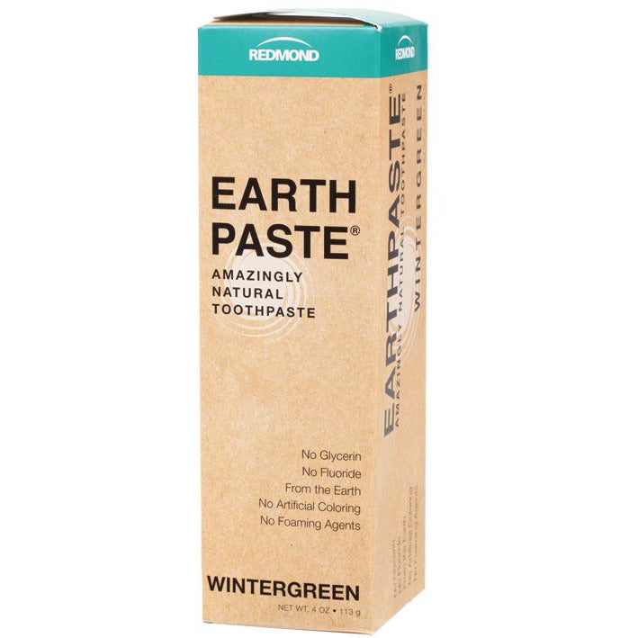 Redmond Earthpaste Toothpaste Wintergreen - Hummingbird Sings