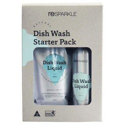 Resparkle Natural Organic Dish Wash Liquid Starter Pack - Hummingbird Sings