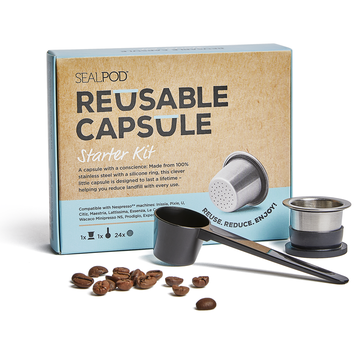 SealPod Reusable Coffee Capsule Starter Kit for Nespresso®