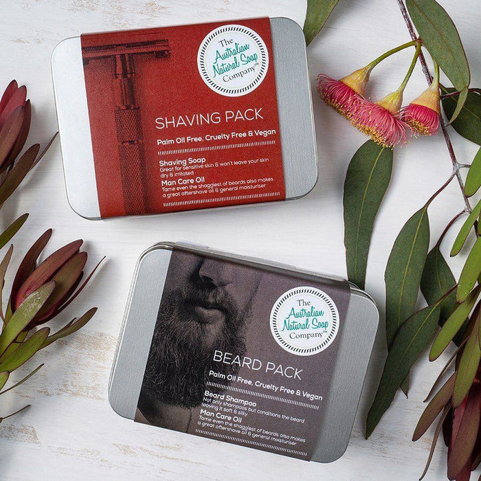THE AUSTRALIAN NATURAL SOAP CO Shaving Pack (Shaving Soap & Oil)