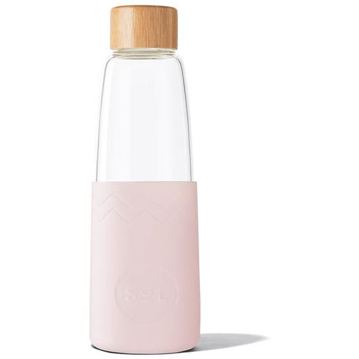sol reusable glass bottle perfect pink