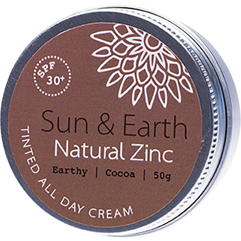 Sun & Earth All Day Tinted Cream Earthy Dark SPF30 - 50g - Hummingbird Sings