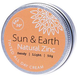 Sun & Earth All Day Tinted Cream Sandy Light SPF30 - 50g - Hummingbird Sings
