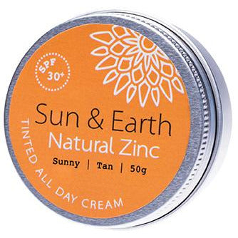 Sun & Earth All Day Tinted Cream Sunny Medium SPF30 - 50g - Hummingbird Sings
