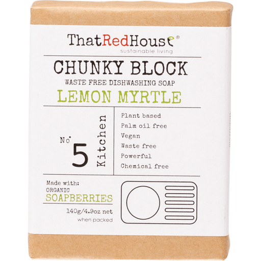 THAT RED HOUSE Chunky Block Dishwashing Soap Lemon Myrtle