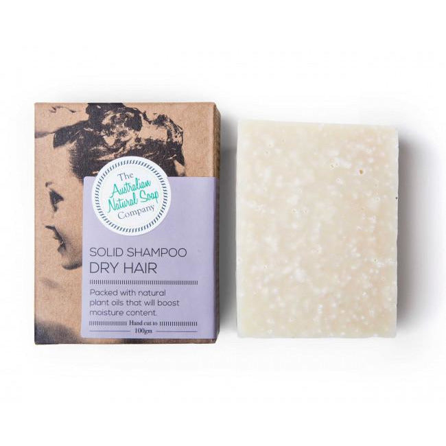 The Australian Natural Soap Company - Solid Shampoo 100g  - Dry Hair - Hummingbird Sings