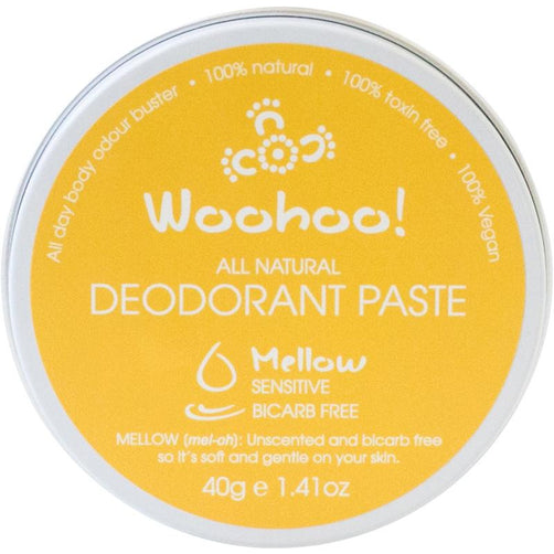 Woohoo All Natural Deodorant Paste - Mellow - Hummingbird Sings