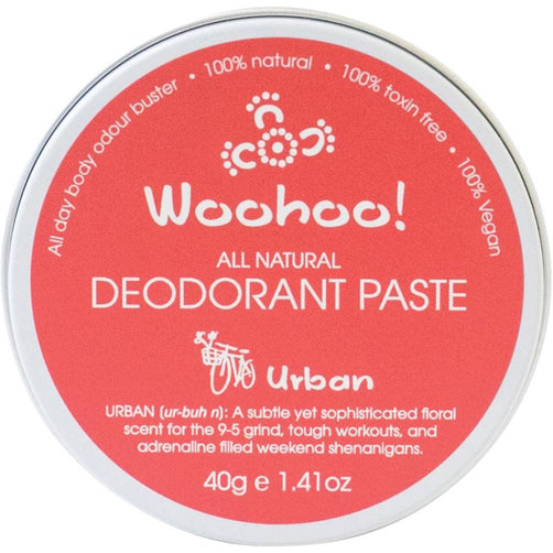 Woohoo All Natural Deodorant Paste - Urban - Hummingbird Sings