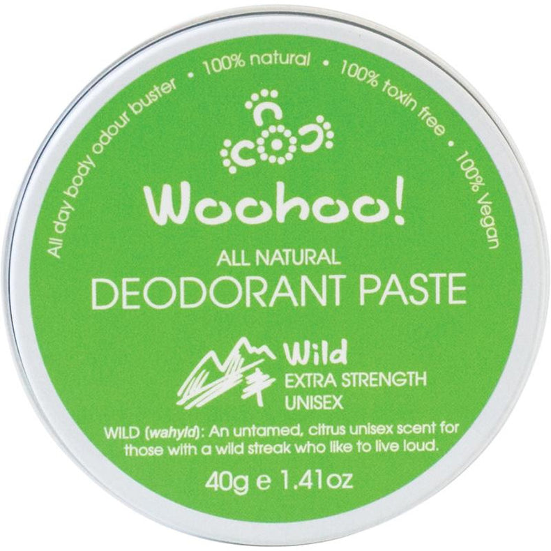 Woohoo All Natural Deodorant Paste - Wild Extra Strength - Hummingbird Sings