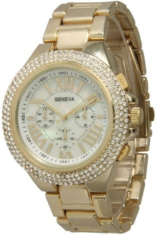 Triple Rhinestone Boyfriend Watch