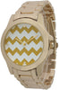 Boyfriend Watch with Chevron Printed Face